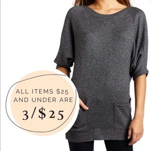 3/$25 Express Dolan sleeve oversized relaxed fit sweater with pockets